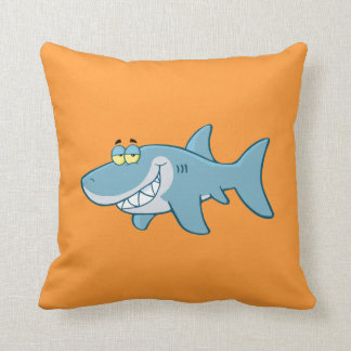 Smiling Shark Throw Pillow