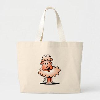 Smiling Sheep Large Tote Bag