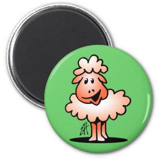 Smiling Sheep Refrigerator Magnets