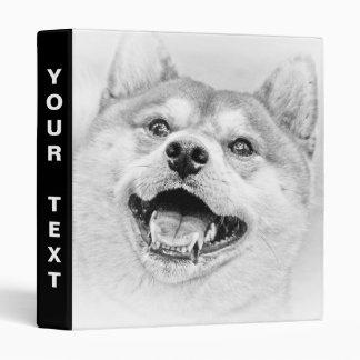 Smiling Shiba Inu dog Vinyl Binders
