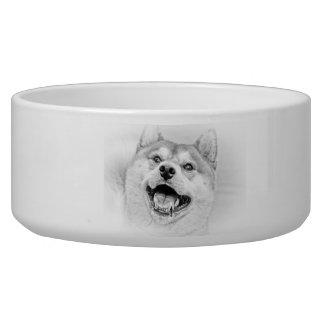 Smiling Shiba Inu dog Bowl