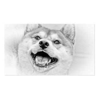 Smiling Shiba Inu dog Business Card Template