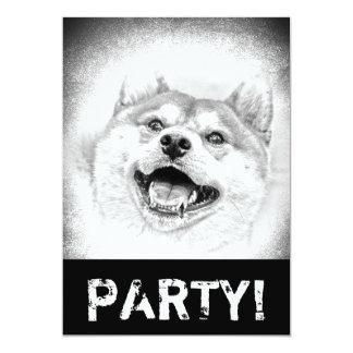 Smiling Shiba Inu dog Card