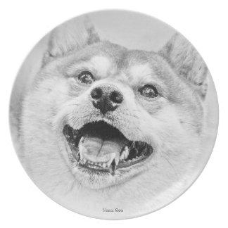 Smiling Shiba Inu dog Dinner Plate