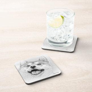 Smiling Shiba Inu dog Drink Coaster