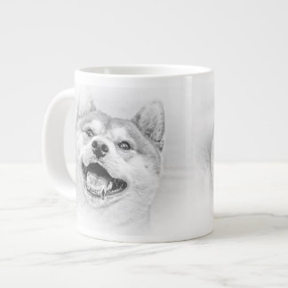 Smiling Shiba Inu dog Giant Coffee Mug