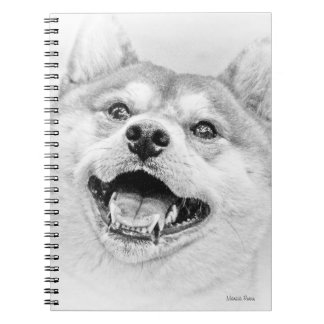 Smiling Shiba Inu dog Spiral Notebook