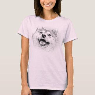 Smiling Shiba Inu dog T-Shirt