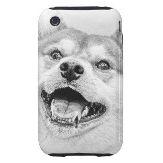 Smiling Shiba Inu dog Tough iPhone 3 Cover