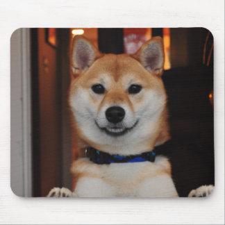 Smiling Shiba Inu Puppy Dog Mousepads