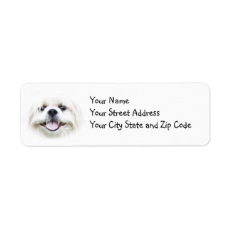 Smiling Shih Tzu Label