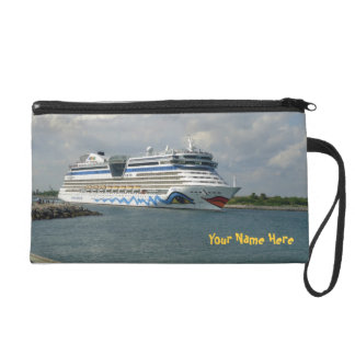 Smiling Ship in Channel Wristlet Clutch