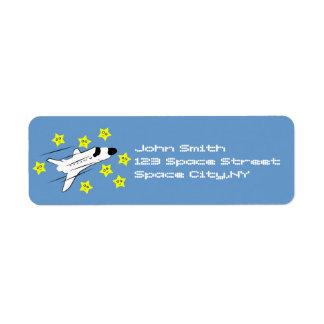 Smiling Shuttle Address Label Template