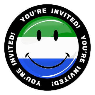 Smiling Sierra Leone Flag Card