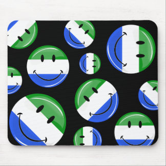 Smiling Sierra Leone Flag Mouse Pad