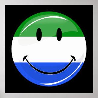 Smiling Sierra Leone Flag Poster