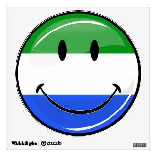 Smiling Sierra Leone Flag Wall Sticker