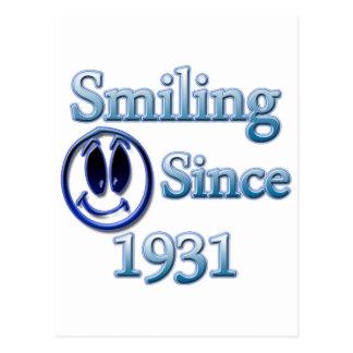 Smiling Since 1931 Postcard