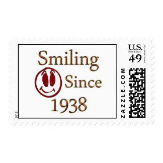 Smiling Since 1938 Postage