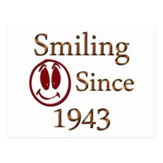 Smiling Since 1943 Postcard