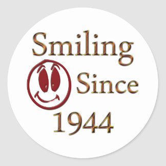 Smiling Since 1944 Classic Round Sticker