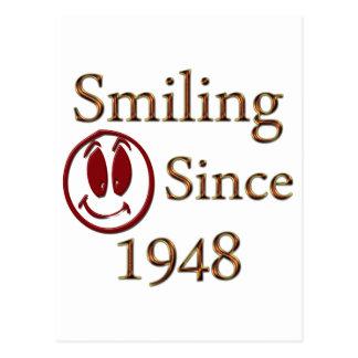 Smiling Since 1948 Postcard