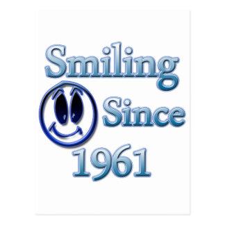 Smiling Since 1961 Postcard
