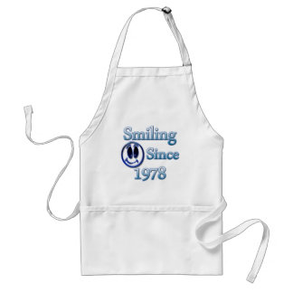 Smiling Since 1978 Adult Apron