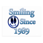 Smiling Since 1989 Postcards