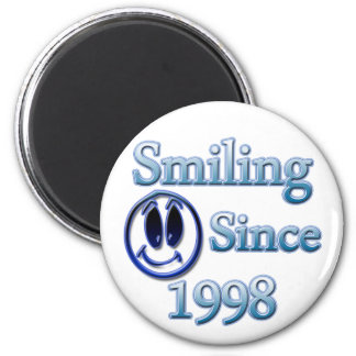 Smiling Since 1998 2 Inch Round Magnet