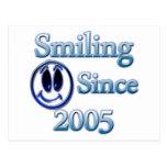 Smiling Since 2005 Postcard