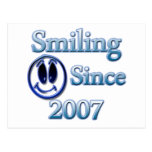Smiling Since 2007 Post Card