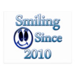 Smiling Since 2010 Post Card