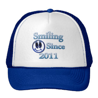 Smiling Since 2011 Mesh Hats