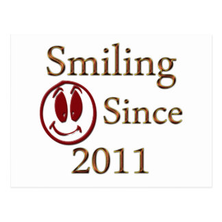 Smiling Since 2011 Postcard