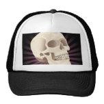 smiling skull cap trucker hat