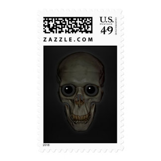 Smiling Skull with eyes Stamp