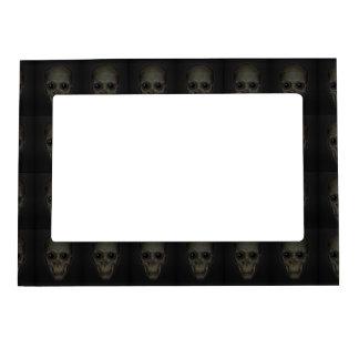 Smiling Skulls with eyes pattern Magnetic Photo Frame