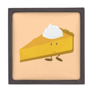 Smiling slice of pumpkin pie premium keepsake box