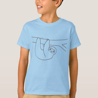 Smiling Sloth Hanging from a Tree T-Shirt