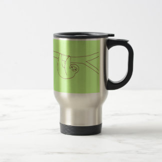 Smiling Sloth Hanging from Tree 15 Oz Stainless Steel Travel Mug