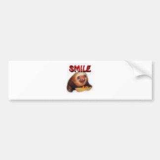 smiling slothie bumper sticker