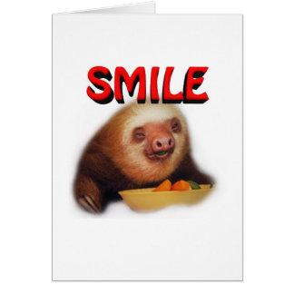 smiling slothie card