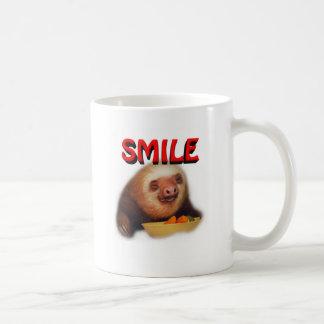 smiling slothie coffee mug