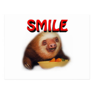 smiling slothie postcard