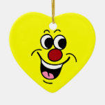 Smiling Smiley Face Grumpey Christmas Ornament