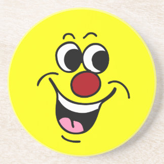 Smiling Smiley Face Grumpey Coaster