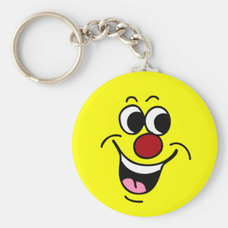Smiling Smiley Face Grumpey Keychain