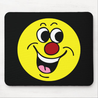 Smiling Smiley Face Grumpey Mouse Pad
