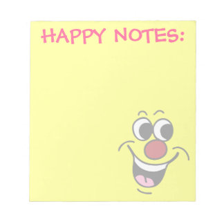 Smiling Smiley Face Grumpey Notepad